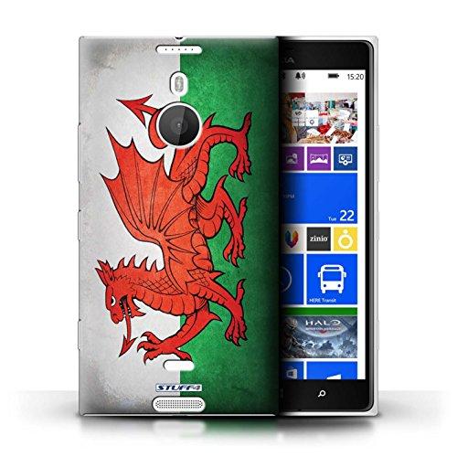 Coque en plastique pour Nokia Lumia 1520 Collection Drapeau - Finlande/finlandais Pays de Galles/gallois