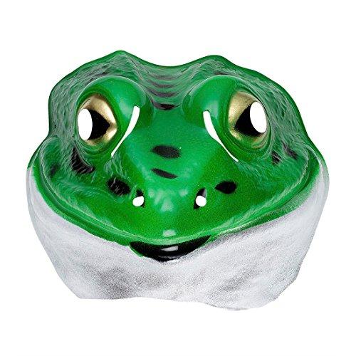 Maske Frosch Kinder Tiermaske Plastik Froschmaske Tiermaske Kröte Kindermaske Tier Tierkostüm Faschingsmaske (Prinzessin Und Der Frosch Erwachsene Kostüme)