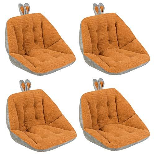 ZCXBHD Doppelseitige Cartoon Sonnenliege Kissen Pads Rückenlehne Atmungsaktiv rutschfeste Tragbare Gepolsterte Bett Matte Liege Relaxer Sitzbezug EIN Sommer Atmungsaktiv Seat (Color : 4xOrange) (Relaxer Design)