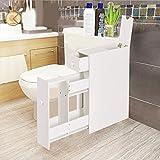COSTWAY Badschrank Seitenschrank Nischenschrank Standschrank Küchenschrank Beistellschrank Hochschrank Mehrzweckschrank Holz