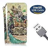 Aireratze Galaxy J4 Handyhülle, Galaxy J4 Hülle Karteneinschub TPU Innen Kratzfestes Schmutzunempfindliches Schutz Handy in Hallo Kumpel Helle Farbe 3D Tech Ultra Glatt für Samsung J4 (USB Cable)