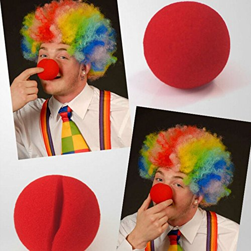 d Clown Magic Nose Party Sponge Ball Masquerade Event - Room Hats Little Horses Rolling Oils Foam Disposal Baby Chewers Nerf Girls Dryer Roller Relief Swing Laundry Centerpi ()