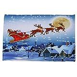 AMUSTER Frohe Weihnachten Willkommen Fußmatten Indoor Home Teppiche Decor 40x60CM Home Wohnzimmer Teppich Bordüre Kurzflor Modern Hochwertig