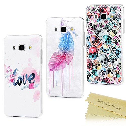 Mavis 's Diary Samsung Galaxy J5Fall (2016Version)–3PCs Ultra Dünn Transparent Hard PC...