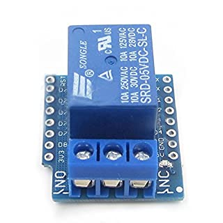 Cikuso 1CH Relay Shield V2 Version 2 for WEMOS D1 Mini ESP8266 WiFi Module for Arduino