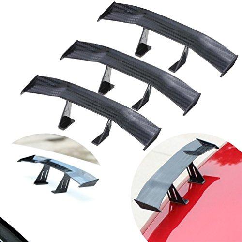 bravewind 3PCS Mini Spoiler Flügel Karbonfaser Auto Rücklicht Dekoration Spoiler Flügel Zubehör