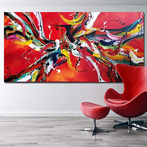 Qiumeixia1 Red Line Abstract Art Pop Art Hd Print Abstract Oil Painting On  Canvas Modern Wall Art Picture No Frame