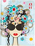 Letts Noteletts Scribble A6 Plus Sunglasses Designed 2013/ 2014 Week to View Academic Diary