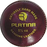 [Sponsored]R-MAX Red Platina Leather Cricket Ball ( 4 Part Ball,Pack Of 1 )