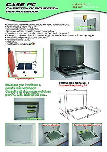 Notebook-sicherheit-schrank (CPC2Case PC Schrank-sicherheit Wandhalterung für PC Notebook oder Tablet mit Schloss)
