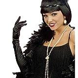 WIDMANN Algodón Negro Guantes de Plumas 60cm para Disfraces Accesorios