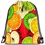 Vince Camu Zaino con Coulisse Frutti Fetta Mela Kiwi Pesca Lime Arancia Limone Yoga Runner Borse per Scarpe da Giorno
