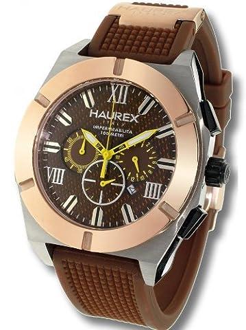 Haurex Italy Herrenuhr Challenger Brown Dial Watch