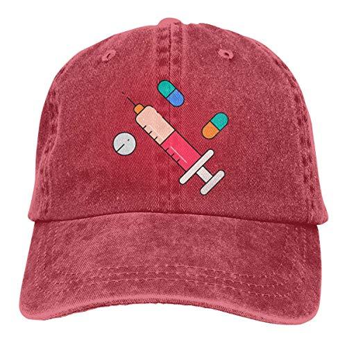 Cowboy Hat Medicine Pattern Denim Skull Cap Baseball Cowgirl Sport Hats Men Women Cowgirl Cadet Cap