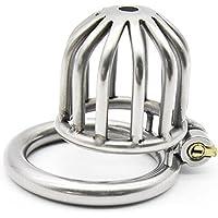 DRSMDR Caja De Seguridad De Acero Inoxidable con Cerradura Pequeña con Llave, Es Fácil De Operar,Ringdiameter45mm
