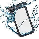 IPX8certificato impermeabile, mantiene il tuo telefono, contanti o carte di credito a secco da acqua, sporco, sabbia, polvere o altri danni. doppio-lato pellicola trasparenteProgettato con doppio finestre trasparenti, è sensibile al tatto, r...