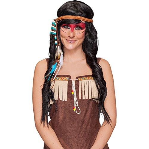 Feder Stirnband Indianer Kopfschmuck Indianerin Haarband Western Kopfband Pocahontas Haarschmuck Indianerkostüm Accessoire Karnevalskostüme Zubehör