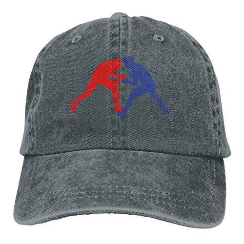 GiveUCap Adult Baseball Caps Hüte Greco Roman Wrestling Dad Denim Hats Vintage Baseball Caps Adjustable for Men Women Greco Jeans