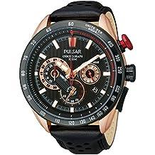 Pulsar de oro rosa y cristales WRC cronógrafo para hombre reloj de pulsera (222790044)