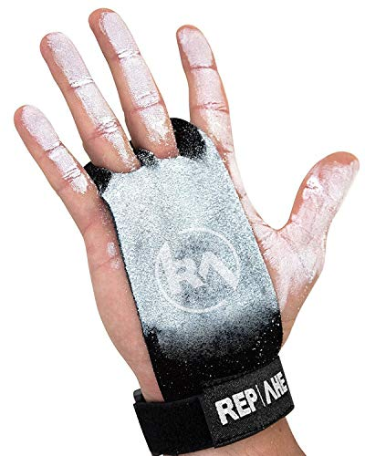 REP AHEAD®️ Grips - Extra starker Handschutz - Handschuhe mit bequemen Doppelpolstern für Crossfit, Fitness, Gym, Gewichtheben, Bodybuilding, Kraftsport, Turnen, Calisthenics