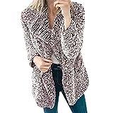SHOBDW Damen Winter Simplicity Solid Warme Lässig Künstliche Wollmantel Frauen Herbst Elegant Langarm Reißverschluss Mantel weich Bequemes Plüsch Hoodie Strickjacke Outwear Jacke Sweatshirt