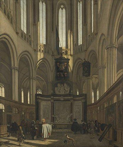 Das Museum Outlet–Innere der nieuwe kerk in Amsterdam mit Grab des Michiel de Ruyter. 1683, gespannte Leinwand Galerie verpackt. 29,7x 41,9cm