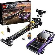LEGO 76904 Speed Champions Mopar Dodge//SRT Top Fuel Dragster & 1970 Dodge Challenger T/A Muscle Car Toy B