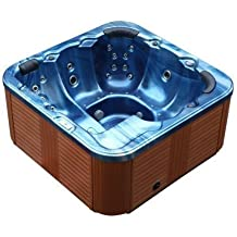 Outdoor Whirlpool Al Aire Libre Hot Tub Troja Spa color: AZUL CON 44 BOQUILLA DE