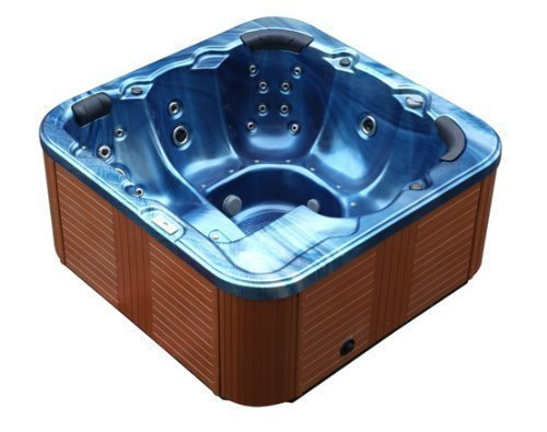 Outdoor Whirlpool Hot Tub Troy Spa With 44 Massage Nozzles + Heating + Ozone Disinfection + Lighting For 5-6 People For Outdoor Area