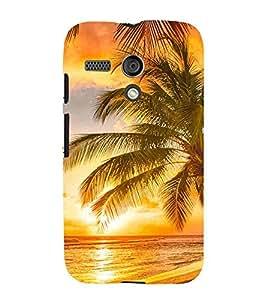Ocean Pattern, Orange, Tree, Lovely pattern, Printed Designer Back Case Cover for Motorola Moto G :: Motorola Moto G (1st Gen) :: Motorola Moto G Dual