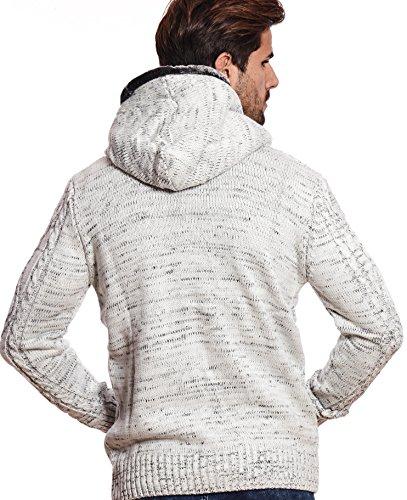 Carisma Herren - Strickjacke 7338 Streetwear Menswear Autumn/Winter Knit Knitwear Sweater Hoodie Jacket CRSM CARISMA Fashion Ecru