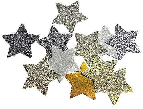 Silber Glitter und Gold Glitter Stern Konfetti für Hochzeit Geburtstagsfeier Dekoration