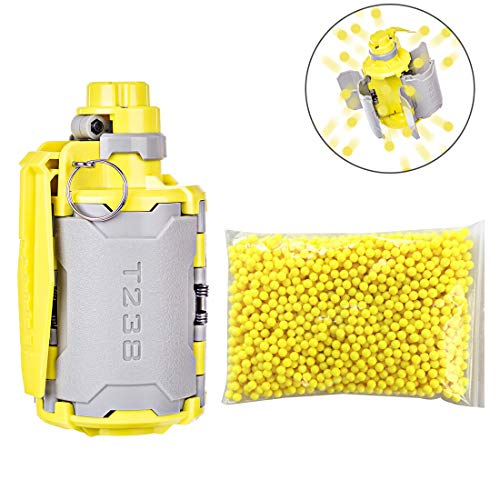 GUOGUO Water Bullet Bomb + 2000er 6mm gehärtete Kugel Handgranate Wasserperlen Spielzeug Neuestes aktualisiertes zeitverzögerter Funktion Design CS Nerf Spiele Airsoft Paintball Granate