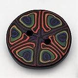 Knöpfe Fimoknopf Fimo 2Stk schwarz 25mm Modern Handgefertigt Polymer Clay Efimoni