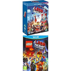 The Lego Movie - Minifigure Edition [Blu-ray] + The LEGO Movie Videogame (Wii U)
