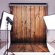 PIXNOR 1, 5 m * 1 m piso de madera fotografía telones de fondo foto atrezzo estudio fondo (Color de madera rojo)