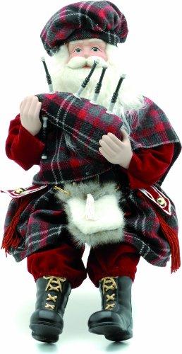 Festive Figur, Motiv Schottischer Weihnachtsmann mit Dudelsack