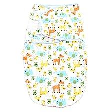 Merssavo Neugeborenes Infant Kind Einstellbare Baby-Swaddle -Kuscheldecke Schlafsack Tier