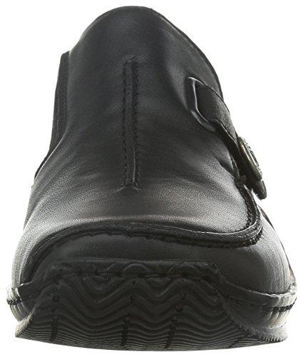 Rieker  L1753,  Scarpe chiuse donna Nero (Schwarz (schwarz/schwarz 01))
