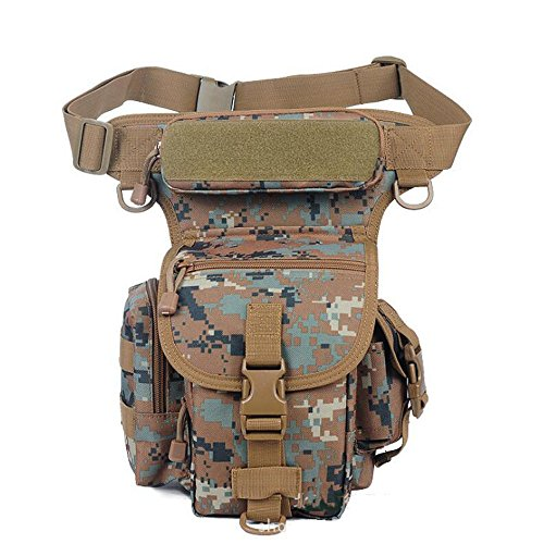 Buwico® Taille Pack Taktik Outdoor Sport Ride Bein Tasche spezielle Wasserdicht Drop Utility Oberschenkel Tasche für Wandern, Angeln Pattern C