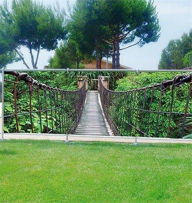 Stickersnews - Brise vue déco personnalisé jardins, terrasses et balcons Passerelle réf 3622 Occultation - 100%, Dimensions - 180x70cm
