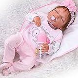 ZIYIUI 23inches 58cm Fullbody Silikon Vinyl Mehr wirklich als Baumwollkörper Wiedergeborene Babypuppe Kinder Reborn Baby Puppe
