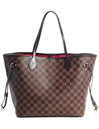 Noah Birch Neverfull Style Damier Tote Shoulder Womens Organizer Handbag Shoulder Fashion Bag MM Size