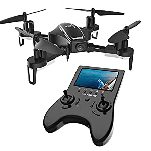 Holy Stone RC Racing Drone, HS230 FPV Drone with 120° FOV 720P HD Camera Live Video 45Km/h High Speed Quadcopter 5.8G LCD Screen Real Time Transmitter, Bonus Battery by Holy Stone