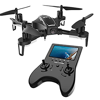 Holy Stone RC Racing Drone, HS230 FPV Drone with 120° FOV 720P HD Camera Live Video 45Km/h High Speed Quadcopter 5.8G LCD Screen Real Time Transmitter, Bonus Battery from Holy Stone