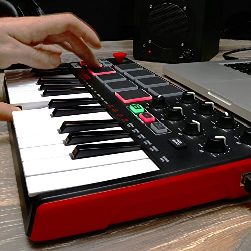 Akai MPK MINI MKII 25-Key Ultra-Portable USB MIDI Keyboard and Pad  Controller with Joystick