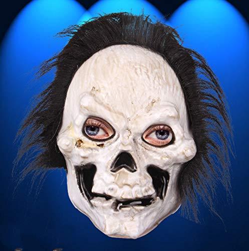 Kostüm Bösewicht Superhelden Und Damen - Halloween Maskerade Performance Show Lustige Monster Bösewicht Teufel Maske Langes Haar Horror Gesichtsmaske-A