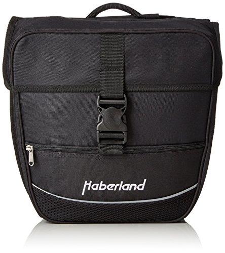 Haberland Fahrradtasche Doppeltasche Einsteiger-Serie, Schwarz, 32 x 34 x 16 cm, 25 Liter, 130002 00