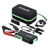 Suaoki G7 Jump Starter 600A for 12V Car Diesel Petrol, LED Flashlight, 18000mAh Battery Pack with Dual USB Ports 12V 16V 19V for Phone Tablet Laptop, Green