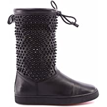 Chaussures Femme Bottes CHRISTIAN LOUBOUTIN Surlapony Flat Nappa Shearl Spikes